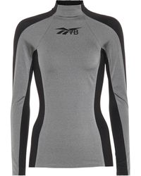 Reebok X Victoria Beckham Panelled Stretch-jersey Top - Metallic