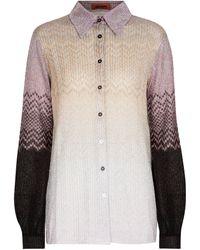 Missoni Hemd aus Metallic-Strick - Mehrfarbig