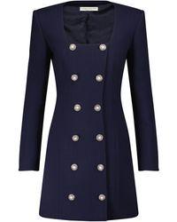 Alessandra Rich Vestido corto cruzado - Azul