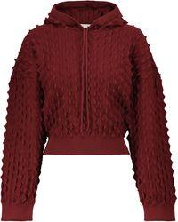 Stella McCartney Sudadera con capucha bordada - Rojo