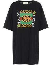 Gucci Camiseta con logo estampado - Negro