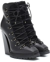 Jimmy Choo Madyn 130 Leather Ankle Boots - Black