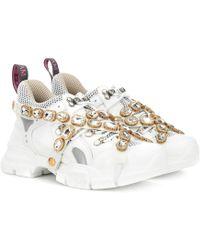 Gucci Sneakers Flashtrek con cristalli - Multicolore