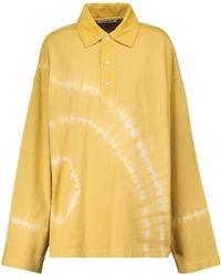 Acne Studios Tie-dye Cotton Polo Shirt - Yellow