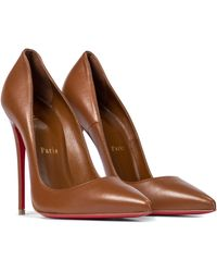 Christian Louboutin So Kate 120 Leather Court Shoes - Brown