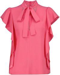 RED Valentino Crêpe Blouse - Pink