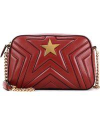 Stella McCartney Schultertasche Stella Star aus Lederimitat - Rot