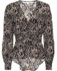 Veronica Beard Thea Snake-print Silk Blouse - Multicolour