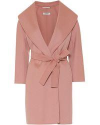 Max Mara Messi Wool Coat - Pink