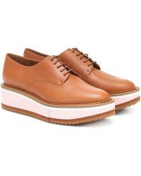 Clergerie Zapatos Derby Terre de piel - Marrón