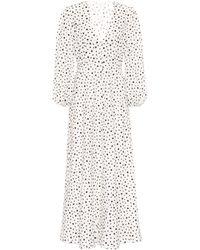 RIXO London Blaire Star Print Dress - White