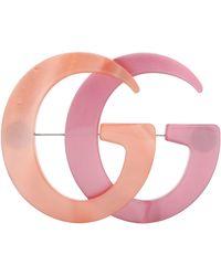 Gucci Broche en résine GG - Rose