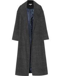 Ganni - Woodside Checked Wool-blend Coat - Lyst