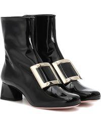Roger Vivier - Très Vivier Leather Ankle Boots - Lyst