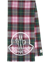 Moncler Schal Aus Wolle Mit Logo - Mehrfarbig
