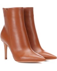 Gianvito Rossi - Levy 85 Leather Ankle Boots - Lyst