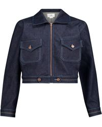 Victoria, Victoria Beckham Denim Jacket - Blue