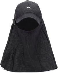 Marine Serre Moiré Hat - Black