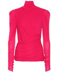 Isabel Marant Top Jalford in jersey stretch - Rosa