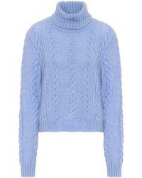 Versace Exklusiv bei Mytheresa – Pullover mit Mohairanteil - Blau