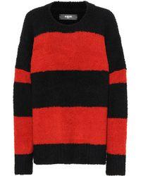 Amiri Striped Wool-blend Jumper - Red
