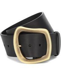 Gabriela Hearst Simone Asymmetric-buckle Leather Belt - Black