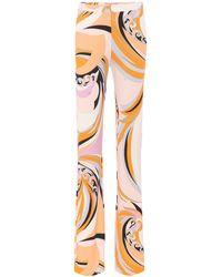 Emilio Pucci - Printed Silk-blend Wide-leg Trousers - Lyst