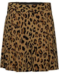 Blazé Milano Fell Leopard-print Silk Shorts - Multicolour