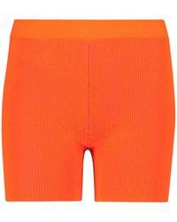 Jacquemus Esclusiva Mytheresa - Shorts Arancia in maglia - Arancione