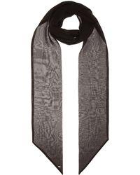 Saint Laurent Silk Scarf - Black