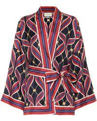 Gucci Pyjama-Oberteil aus Seide - Rot