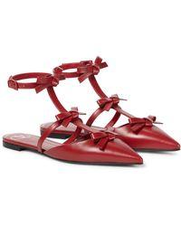Valentino Garavani Valentino garavani slingback-ballerinas french bows aus leder - Rot