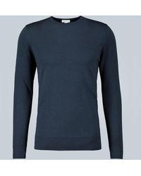 Sunspel Merino Wool Jumper - Blue