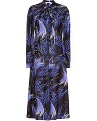 Givenchy Vestido midi estampado - Azul