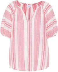 Velvet Halsey Cotton-jacquard Top - Pink