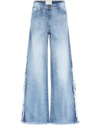 Johanna Ortiz - Mombasa Frayed Wide-leg Jeans - Lyst