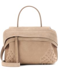 Tod's - Wave Mini Suede Tote - Lyst