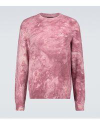 Amiri Batik-Pullover aus Kaschmir - Pink