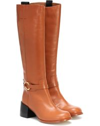 JOSEPH Leather Knee-high Boots - Brown