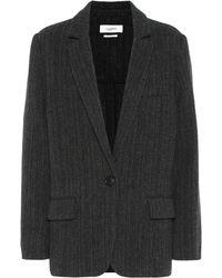 Étoile Isabel Marant Charly Herringbone Wool Jacket - Black