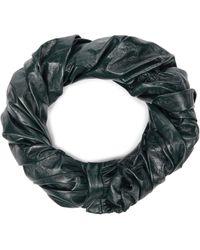 Jil Sander Leather Scarf - Green