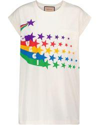 Gucci T-shirt imprimé en coton - Blanc