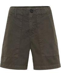 Velvet Shorts Kaely aus Baumwolle - Grün