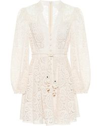 Zimmermann Exclusive To Mytheresa – Broderie-anglaise Minidress - White