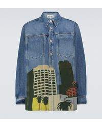 Loewe X Ken Price - Camicia di jeans LA Series - Blu