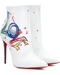 Christian Louboutin - Boot In Love Leather Ankle Boots - Lyst