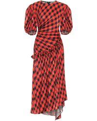 Preen By Thornton Bregazzi Vestido Indy de jacquard de cuadros - Rojo