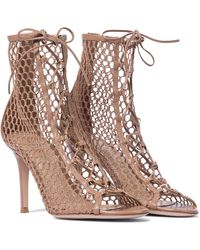 Gianvito Rossi Ankle Boots Helena mit Lederdetails - Braun