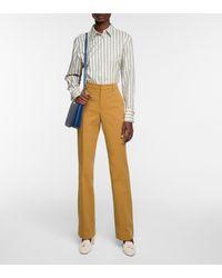 Loro Piana Striped Cotton Shirt - White