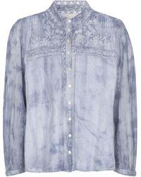LoveShackFancy Camicia Ronda a stampa tie-dye in cotone - Blu